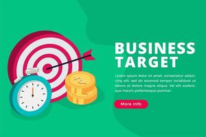 Business target isometric concept vector