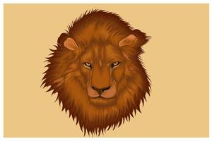 Hand drawing head of a lion