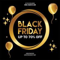 Golden Black Friday Template Design