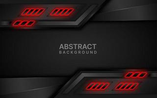 Black and red futuristic layered design