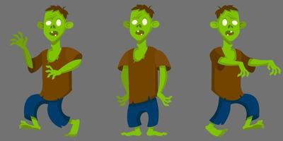 Zombie in different poses vector
