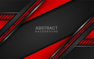 Red and black futuristic angled layers design vector