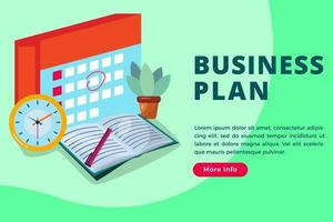 Business plan isometric concept