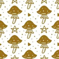 hongo venenoso, símbolo mágico patrón sin fisuras de halloween