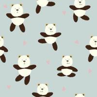 patrón de dibujos animados lindo oso divertido