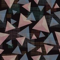 Abstract pastel triangle pattern vector