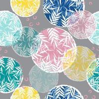 patrón de círculo floral colorido abstracto vector
