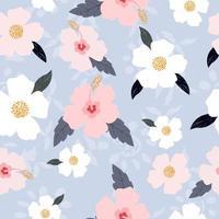 Hibiscus flower pattern vector
