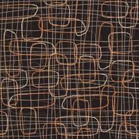 patrón de líneas de doodle colorido abstracto vector