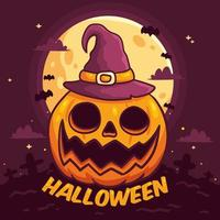 dibujado a mano halloween jack o lantern vector