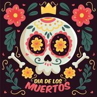 Colorful Dia De Los Muerstos Illustration vector