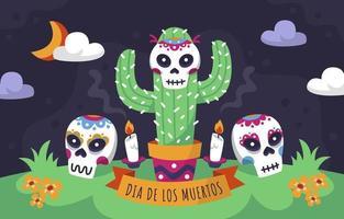 Dia De Los Muertos Background vector