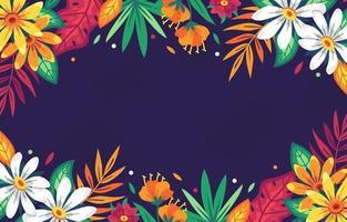 exóticas y hermosas flores tropicales vector
