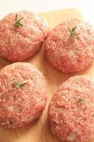 rosemary on hamburger steak
