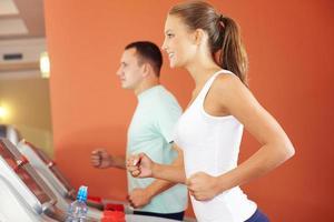 On a treadmill photo
