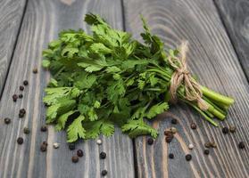 Fresh green coriander