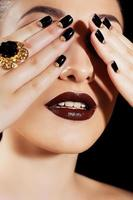 Makeup and manicure photo