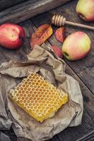 natureza morta com favos de mel