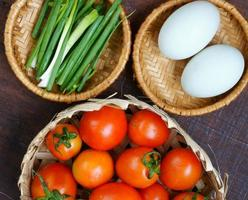 Vietnamese food, tomato saute egg photo