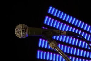 blue fan microphone photo