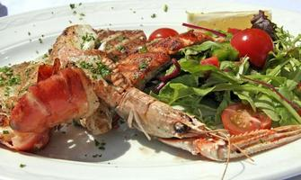 Mixed grilled seafood photo