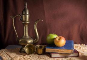 Still life reading table. photo