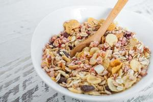 Bowl of delicious muesli