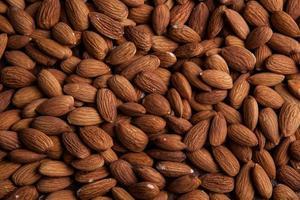 Grain almonds on close up photo