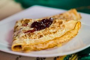 Pancake with jam