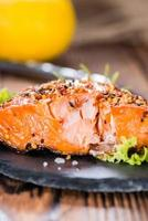 Smoked Salmon with spices photo