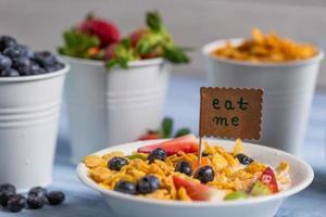 desayuno saludable listo para comer foto