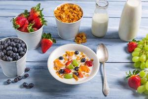 Ingredients for a healthy and tasty breakfast photo