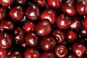 background of fresh cherries photo