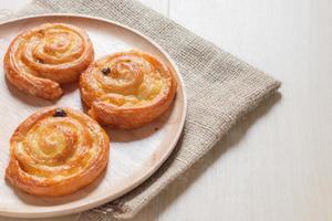 Cinnamon and raisin roll photo