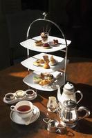 High tea set with dessert photo