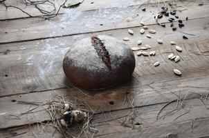 Close-up of traditional retro bread