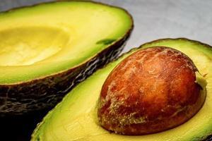 Cut open avocado photo