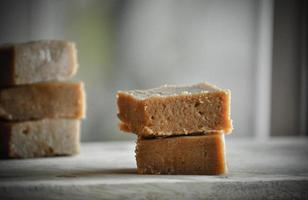 energy bars in grey background