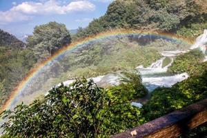 Rainbow on Marmore's waterfalls