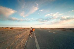 In the desert highway photo