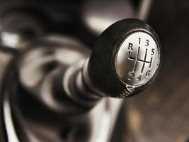 the shift lever manual gearbox closeup photo