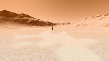 hombre en un desierto