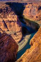 Curva de herradura río powell / cañón arizona foto