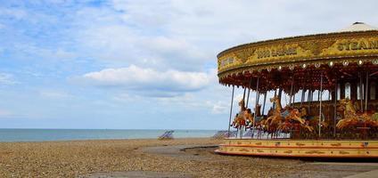 Deserted carousel photo