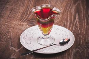 layered jelly desert in glass
