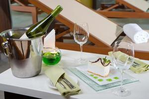 desert and wine photo