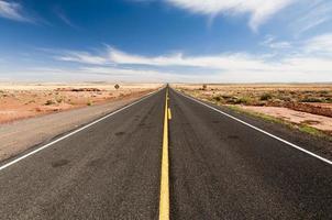 strade infinite nel deserto dell'Arizona, Stati Uniti