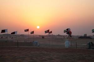Sunset in the desert photo