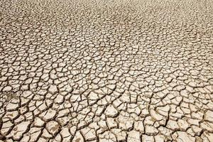 soil breaking with hot summer season