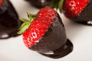 fresas en chocolate foto